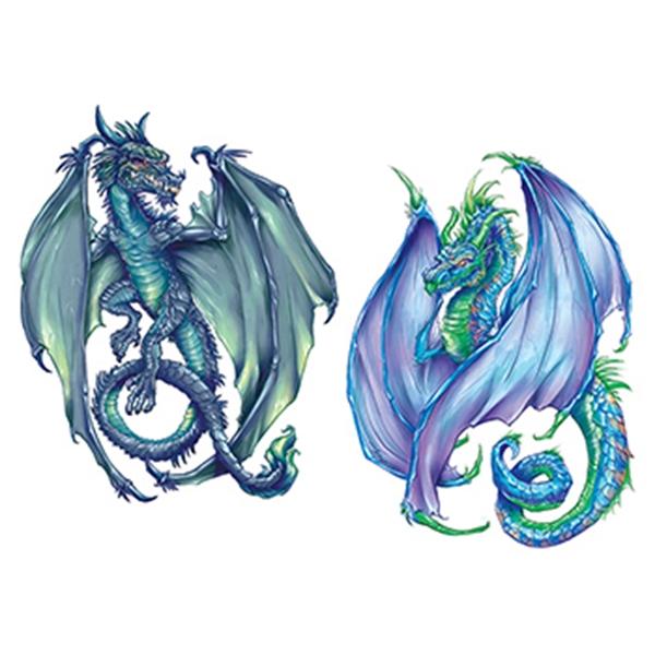 Coatl Dragons Temporary Tattoo Set - Coatl Dragons Temporary Tattoo Set
