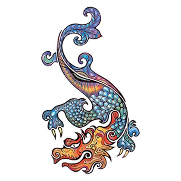 Traditional Dragon Temporary Tattoo - Traditional Dragon Temporary Tattoo