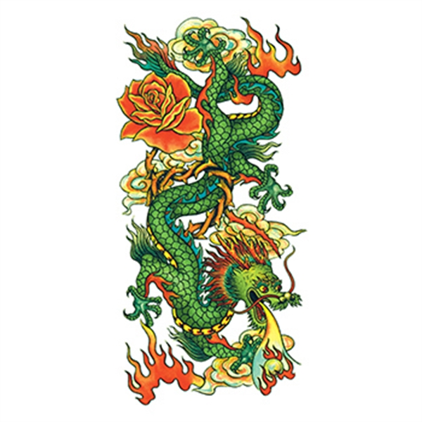 Traditional Chinese Dragon Temporary Tattoo - Traditional Chinese Dragon Temporary Tattoo
