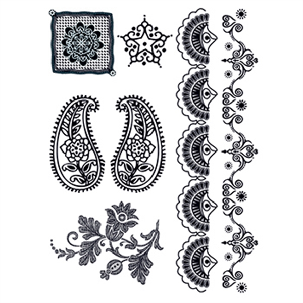Henna: Midnight Temporary Tattoo Set - Henna: Midnight Temporary Tattoo Set