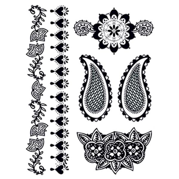 Henna: Deeply Black Temporary Tattoo Set