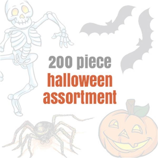 Assorted Halloween Temporary Tattoos (200 tattoos) - Assorted Halloween Temporary Tattoos (200 tattoos)