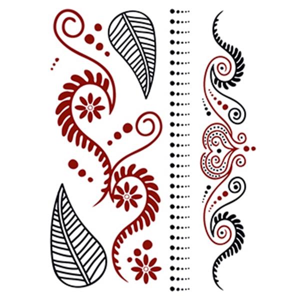 Henna: Natural Temporary Tattoo Set - Henna: Natural Temporary Tattoo Set