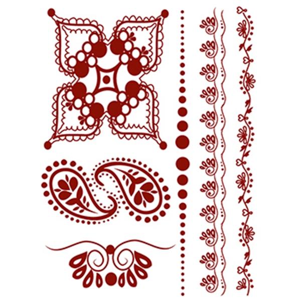 Henna: Whimsical Temporary Tattoo Set - Henna: Whimsical Temporary Tattoo Set
