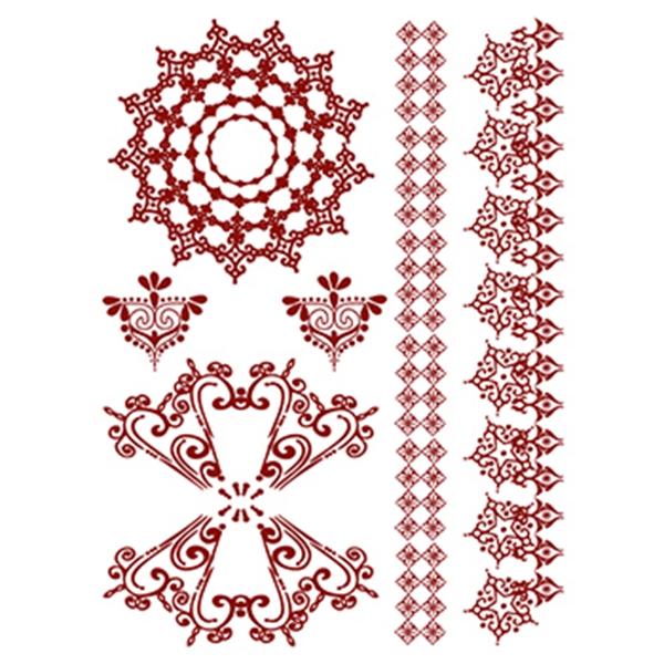 Henna: Amazon Temporary Tattoo Set - Henna: Amazon Temporary Tattoo Set