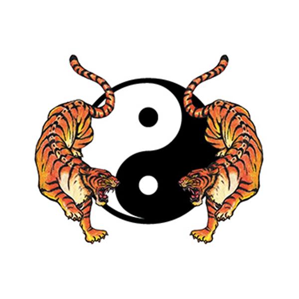 Traditional Yin Yang Temporary Tattoo - Traditional Yin Yang Temporary Tattoo