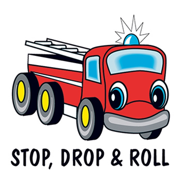 Stop Drop & Roll Temporary Tattoo - Stop Drop & Roll Temporary Tattoo