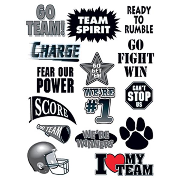 Go Team Set of Sports Temporary Tattoo - Go Team Set of Sports Temporary Tattoo