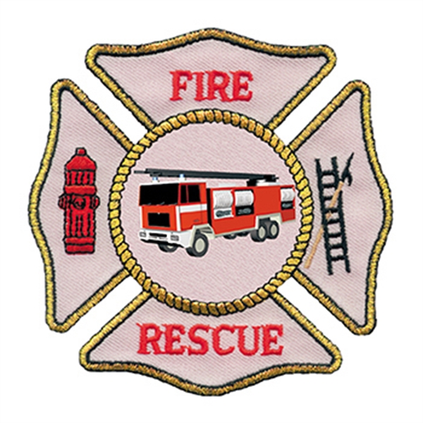 Fire Rescue Patch Temporary Tattoo