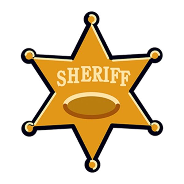 Sheriff Star Temporary Tattoo - Sheriff Star Temporary Tattoo