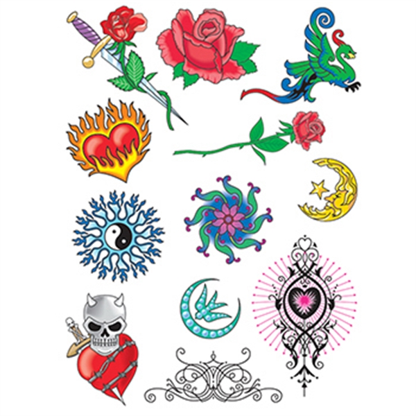 Fire and Ice Set of Temporary Tattoos - Fire and Ice Set of Temporary Tattoos