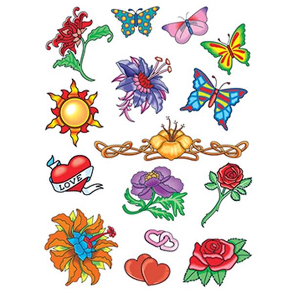 Summer Loving Set of Temporary Tattoos - Summer Loving Set of Temporary Tattoos