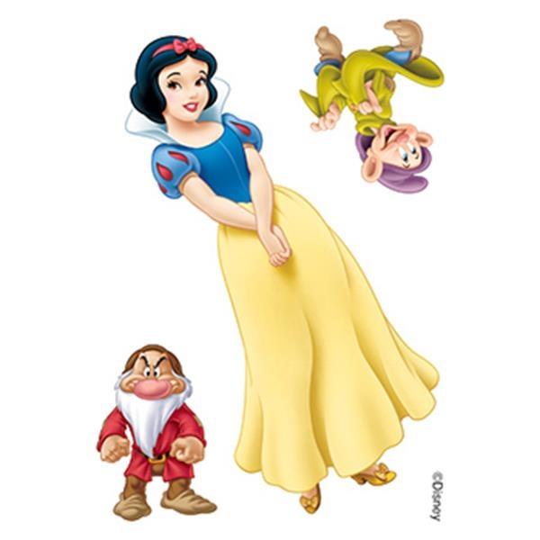 Snow White, Grumpy and Doc Temporary Tattoos - Snow White, Grumpy and Doc Temporary Tattoos