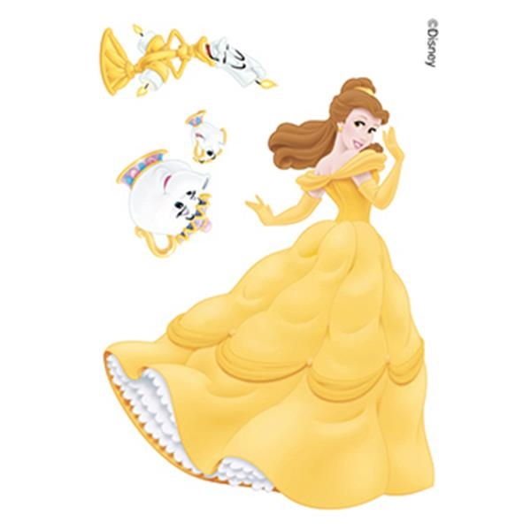 Beauty and the Beast: Belle and Friends Temporary Tattoos - Beauty and the Beast: Belle and Friends Temporary Tattoos