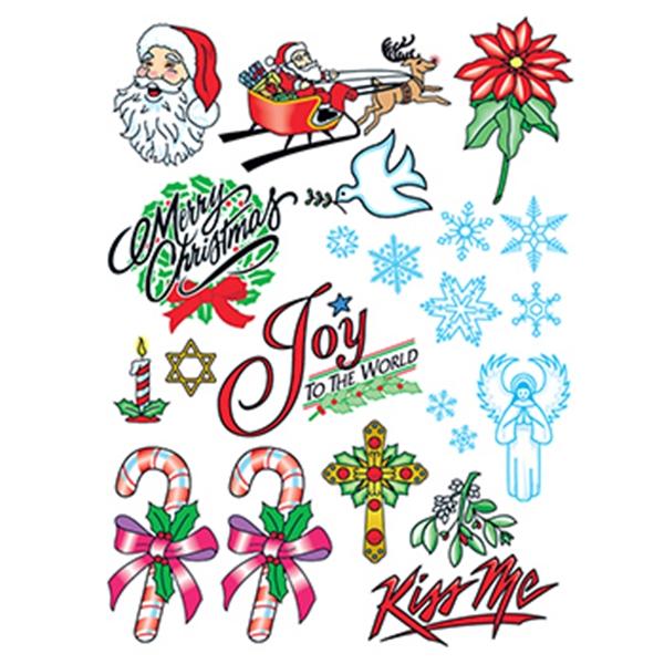 Christmas Joy Set of Temporary Tattoos - Christmas Joy Set of Temporary Tattoos