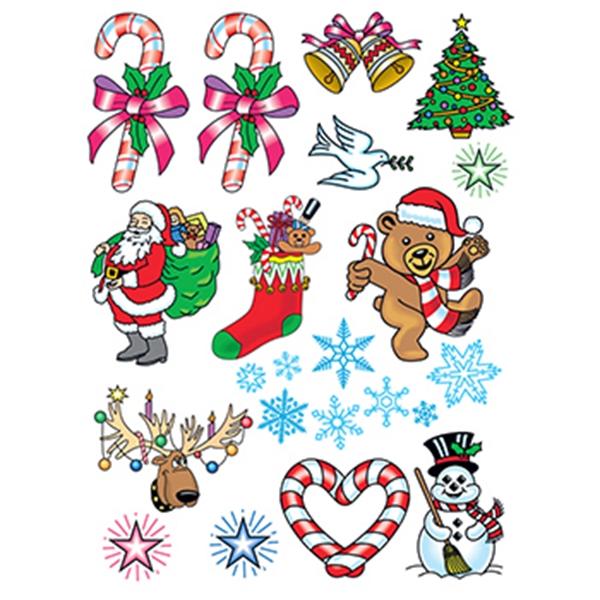 Christmas Spirit Set of Temporary Tattoos - Christmas Spirit Set of Temporary Tattoos