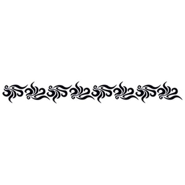 Swirling Tribal Armband Temporary Tattoo