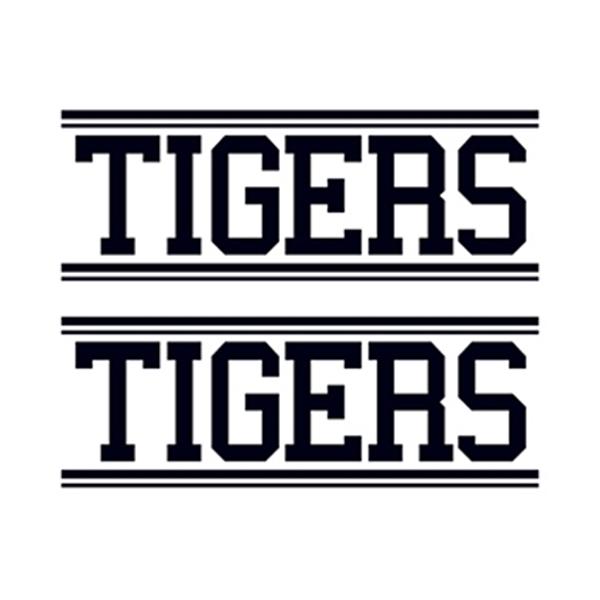 Tigers Text Temporary Tattoo - Tigers Text Temporary Tattoo