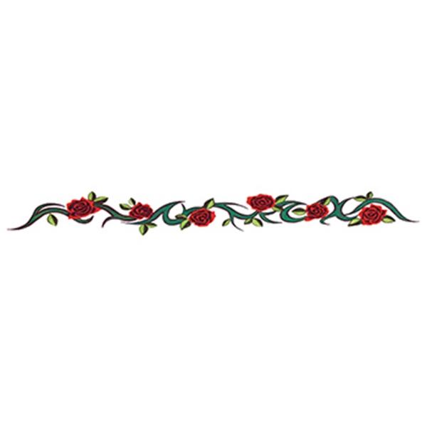 Rose Tribal Band Temporary Tattoo - Rose Tribal Band Temporary Tattoo