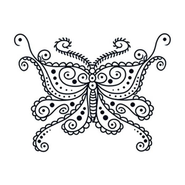 Henna: Butterfly Temporary Tattoo - Henna: Butterfly Temporary Tattoo