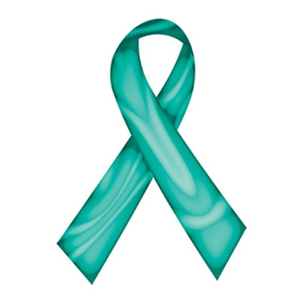 Swirl Teal Awareness Ribbon Temporary Tattoo - Swirl Teal Awareness Ribbon Temporary Tattoo