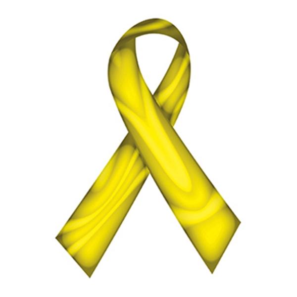 Swirl Yellow Awareness Ribbon Temporary Tattoo - Swirl Yellow Awareness Ribbon Temporary Tattoo