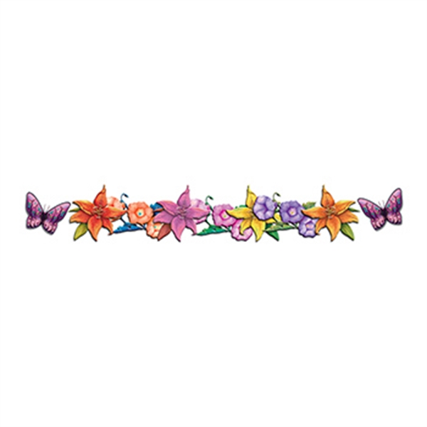 Butterflies and Flowers Band Temporary Tattoo - Butterflies and Flowers Band Temporary Tattoo