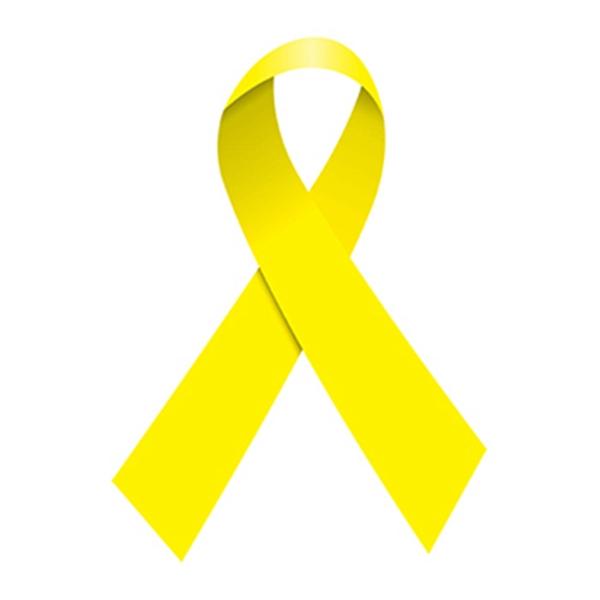 Yellow Awareness Ribbon Temporary Tattoo