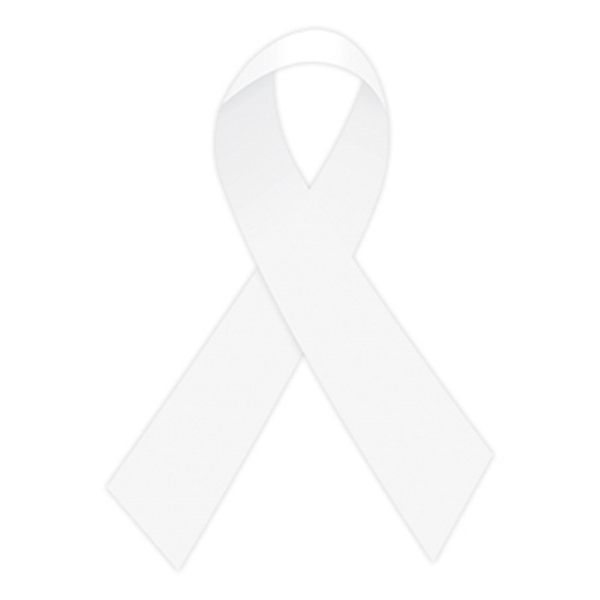 White Awareness Ribbon Temporary Tattoo - White Awareness Ribbon Temporary Tattoo