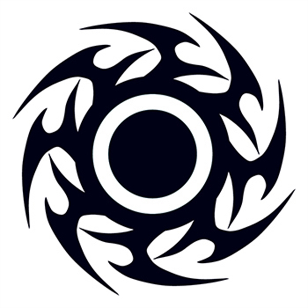 Tribal Disc Temporary Tattoo - Tribal Disc Temporary Tattoo