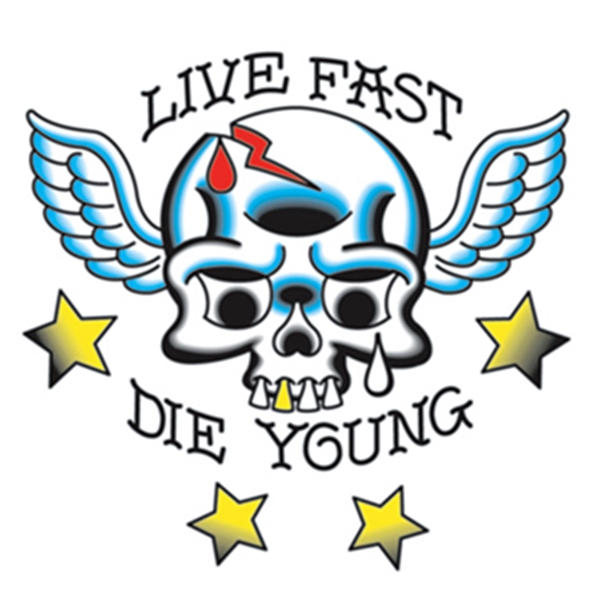 Live Fast Die Young Temporary Tattoo - Live Fast Die Young Temporary Tattoo