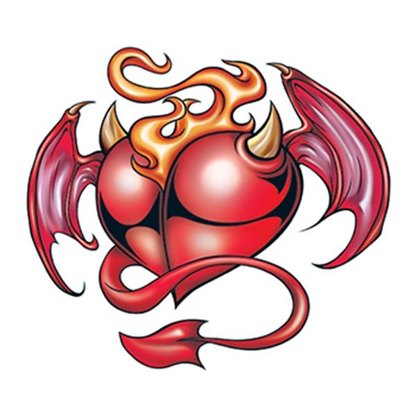 Devil Heart Temporary Tattoo
