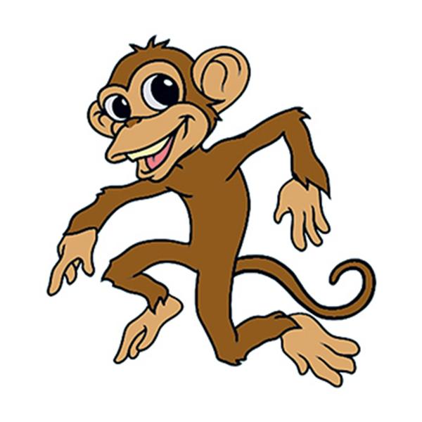 Dancing Monkey Temporary Tattoo - Dancing Monkey Temporary Tattoo