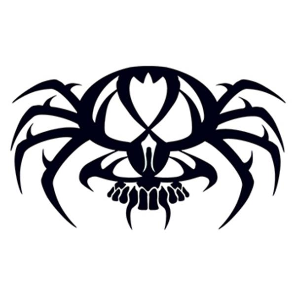 Tribal Spider Skull Temporary Tattoo - Tribal Spider Skull Temporary Tattoo