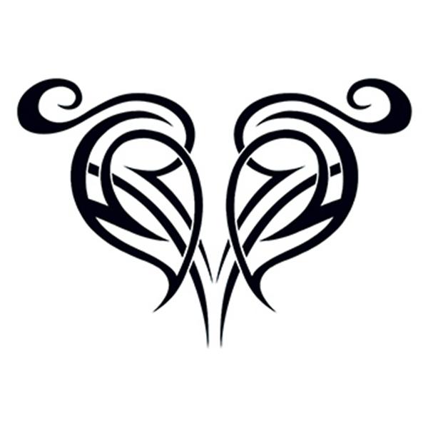 Tribal Broken Heart Temporary Tattoo - Tribal Broken Heart Temporary Tattoo