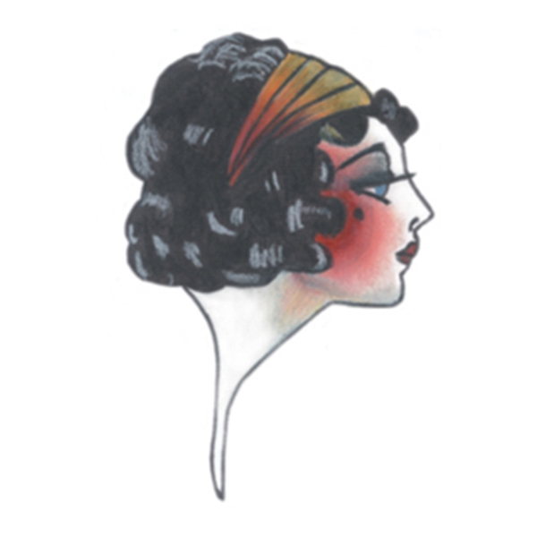 Vintage Face Temporary Tattoo