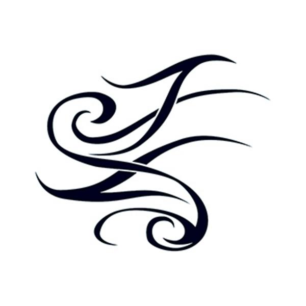 Tribal Script Design Temporary Tattoo