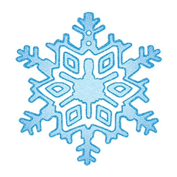 Glitter Snowflake Temporary Tattoo - Glitter Snowflake Temporary Tattoo