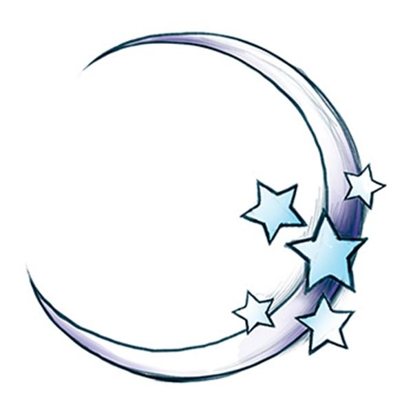 Moon Temporary Tattoo
