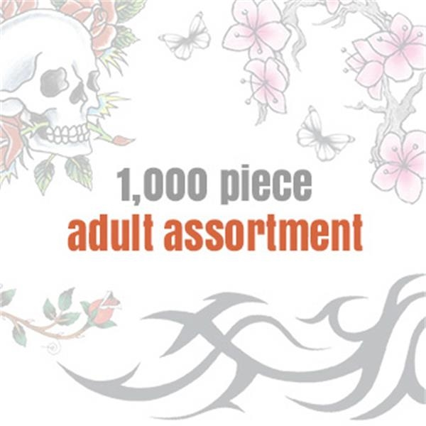 Assorted Temporary Tattoos for Adults (1000 tattoos) - Assorted Temporary Tattoos for Adults (1000 tattoos)