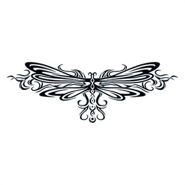 Tribal Dragonfly Tribal Temporary Tattoo - Tribal Dragonfly Tribal Temporary Tattoo