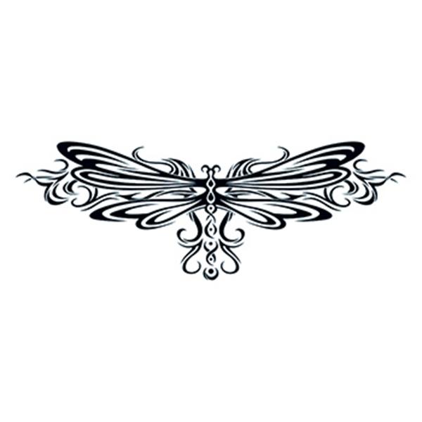 Tribal Dragonfly Tribal Temporary Tattoo - Tribal Dragonfly Tribal Temporary Tattoo