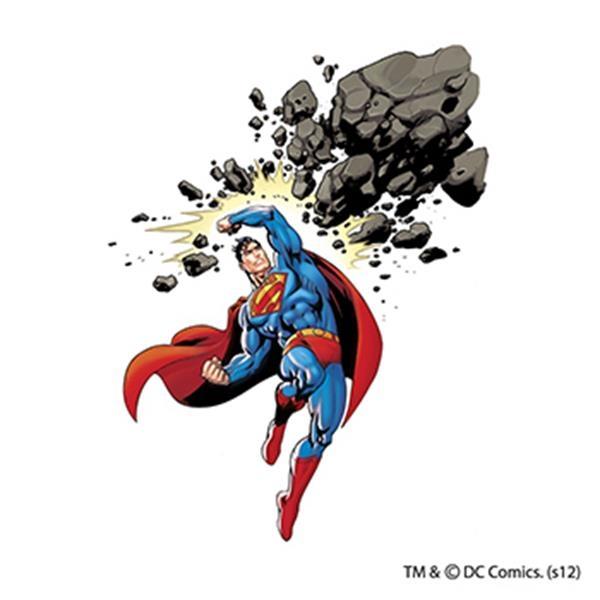 Warner Brothers: Superman Comet Cruncher Temporary Tattoo - Warner Brothers: Superman Comet Cruncher Temporary Tattoo