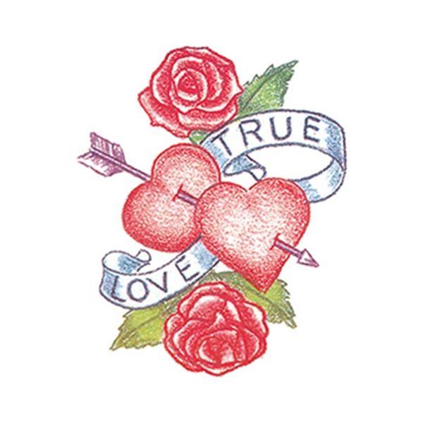 True Love Heart Temporary Tattoo - True Love Heart Temporary Tattoo