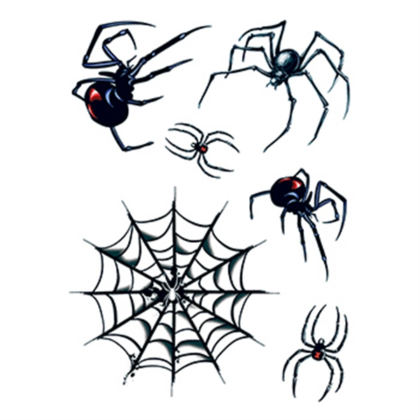 Halloween Spider and Web Temporary Tattoos - Halloween Spider and Web Temporary Tattoos