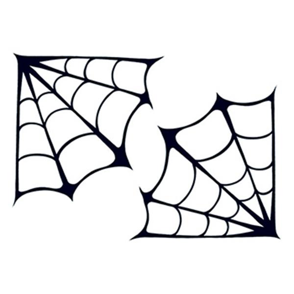 Spider Webs Temporary Tattoo