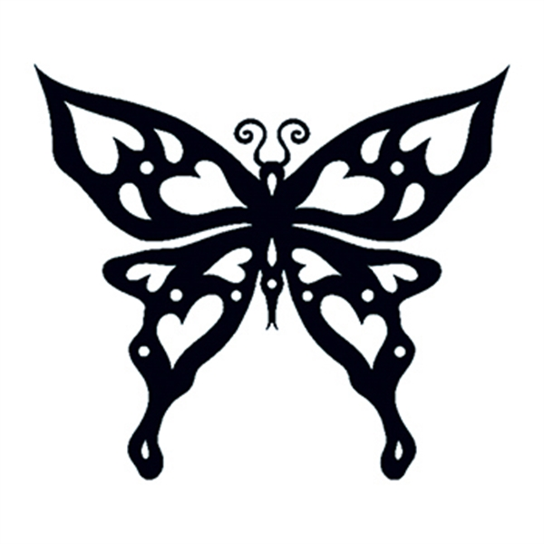 Glow in the Dark Tribal Butterfly Temporary Tattoo