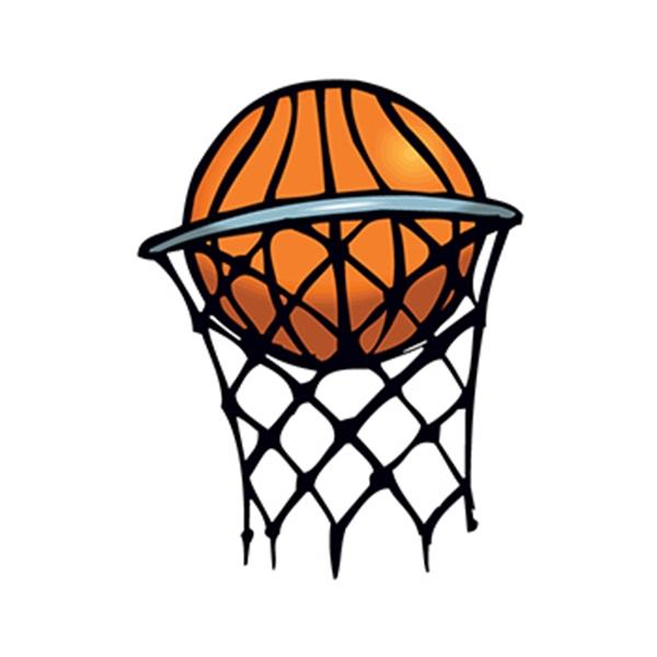 Basketball in Hoop Temporary Tattoo - Basketball in Hoop Temporary Tattoo
