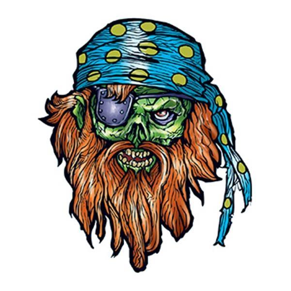 Bearded Pirate Temporary Tattoo - Bearded Pirate Temporary Tattoo