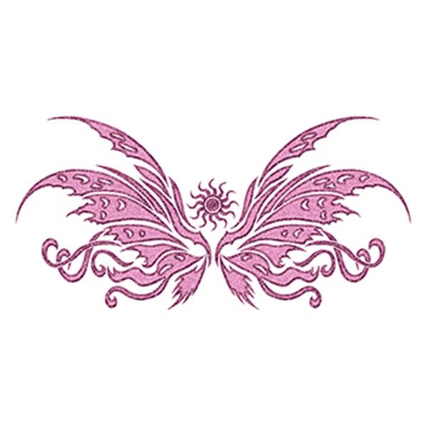 Glitter Pink Wing Temporary Tattoo - Glitter Pink Wing Temporary Tattoo